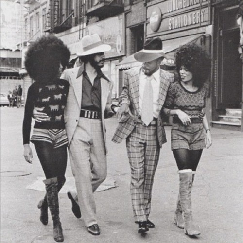 Harlem 1970; Super Fly, I can hear Ishiac Hayes singing this song by composed by Curtis Mayfield who did the song track for this classic 70's film!