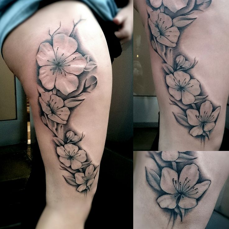 Cherry Blossom In Black And White Tattoos With My: 17 Best Images About Tattoos On Pinterest