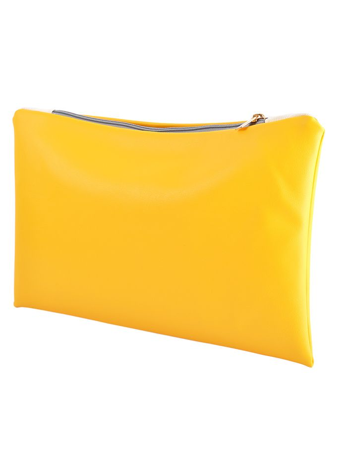The Yellow Seal Pochette - yellow trend S/S 2016 #madeinITALY #fashion #fashionaddicted