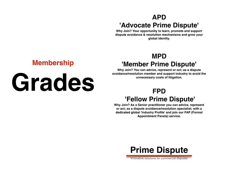 Evolution of Alternative Dispute Resolution Membership.  APD & MPD grades are currently 'Free' to join!  Your Global Grade is ready for you! http://www.primedispute.com/members.html  #arbitration