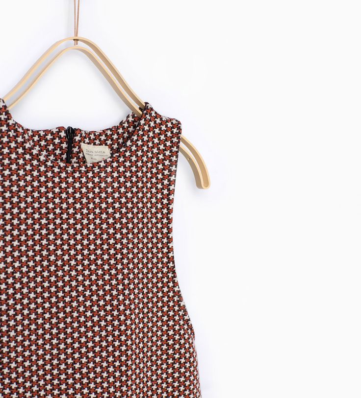 Image 1 of Jacquard pinafore dress from Zara