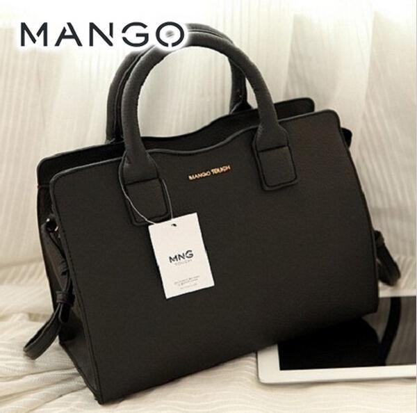 Barato 2015 da marca mango toque bolsa de moda das mulheres maleta mensageiro saco de lona mulheres saco da senhora bolsa de ombro nova chegada, Compro Qualidade Bolsas de Ombro diretamente de fornecedores da China: