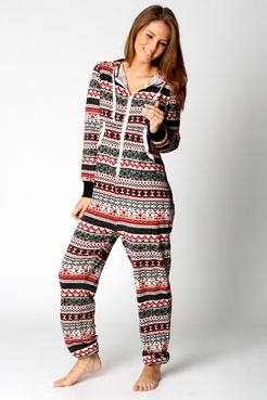 Gracie Knitted Fairisle Hooded Onesie by DaisyCombridge
