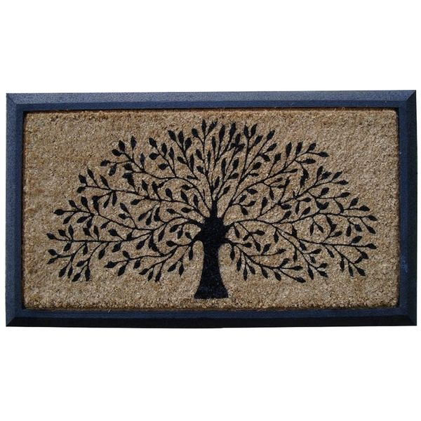 Molded Rubber Coir Tree Double Door Mat - Overstock Shopping - Big Discounts on Door Mats