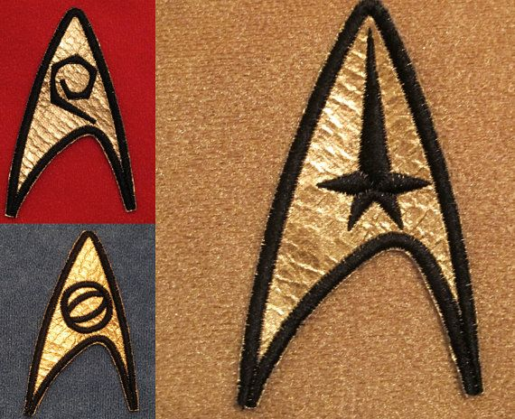 Star Trek TOS Original Series Uniform Insignia Patches - Set of 3 USS Enterprise