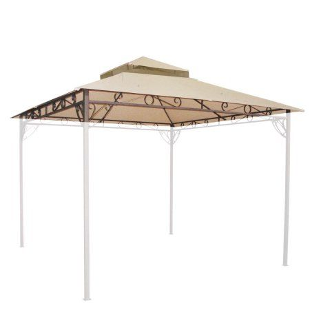 Yescom 10.8'x10.8' Outdoor Waterproof Gazebo Canopy Top Replacement 2-tier Cover for 10'x10' Frame