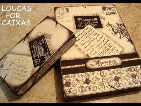 Pintura decorativa e scrapbooking por Louca por Caixas