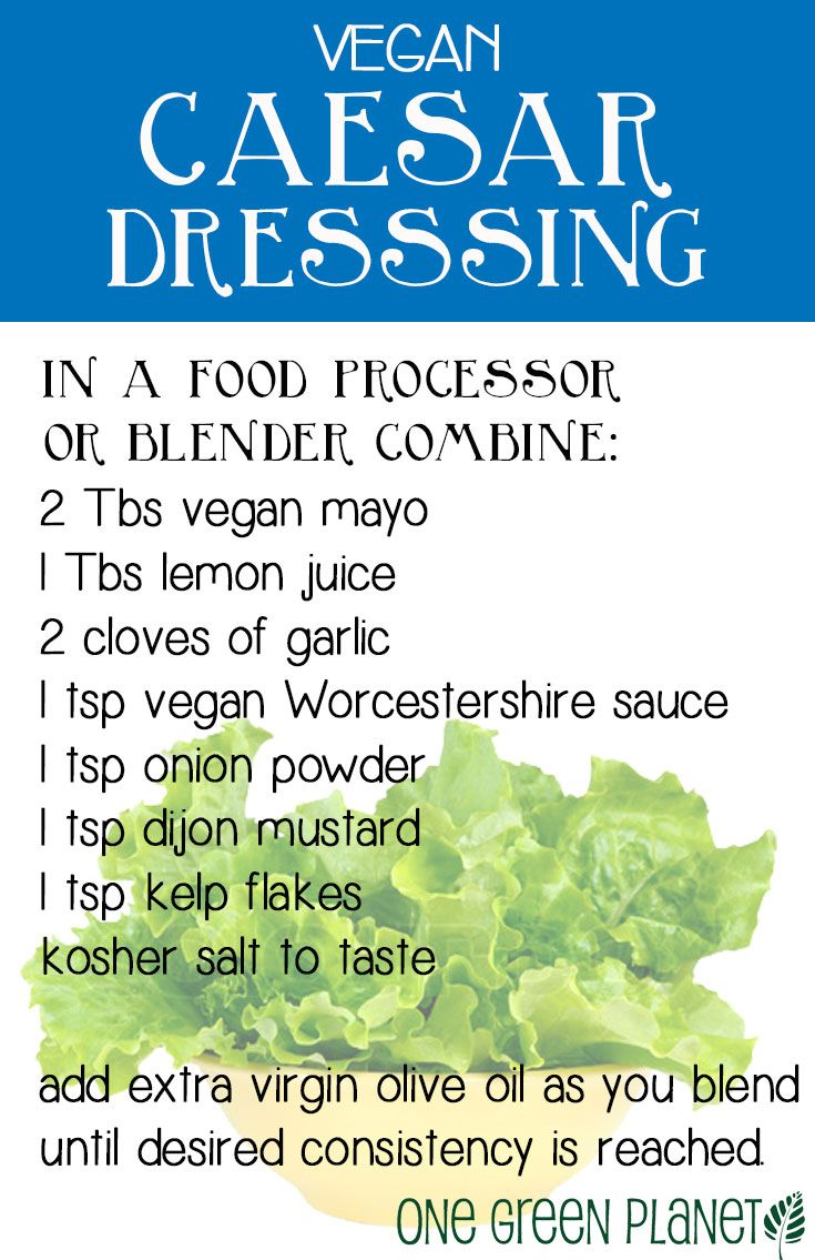 10 Ways to Make Amazing Salad Dressings: Vegan Caesar.  I skip the kelp and add unsweetened almond milk to thin after adding a bit of olive oil.  This is great.