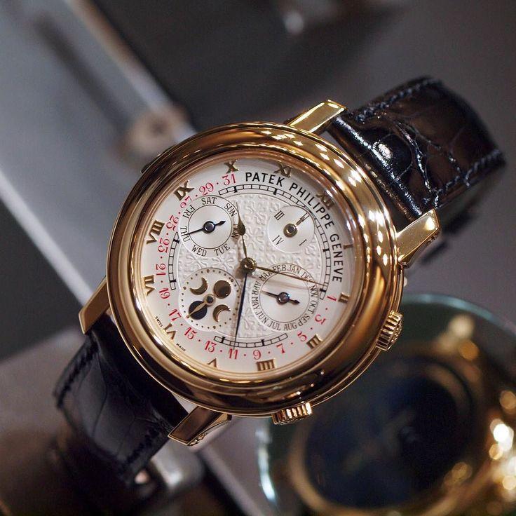 Patek philippe sky moon tourbillon mens wristwatch (dual sided)