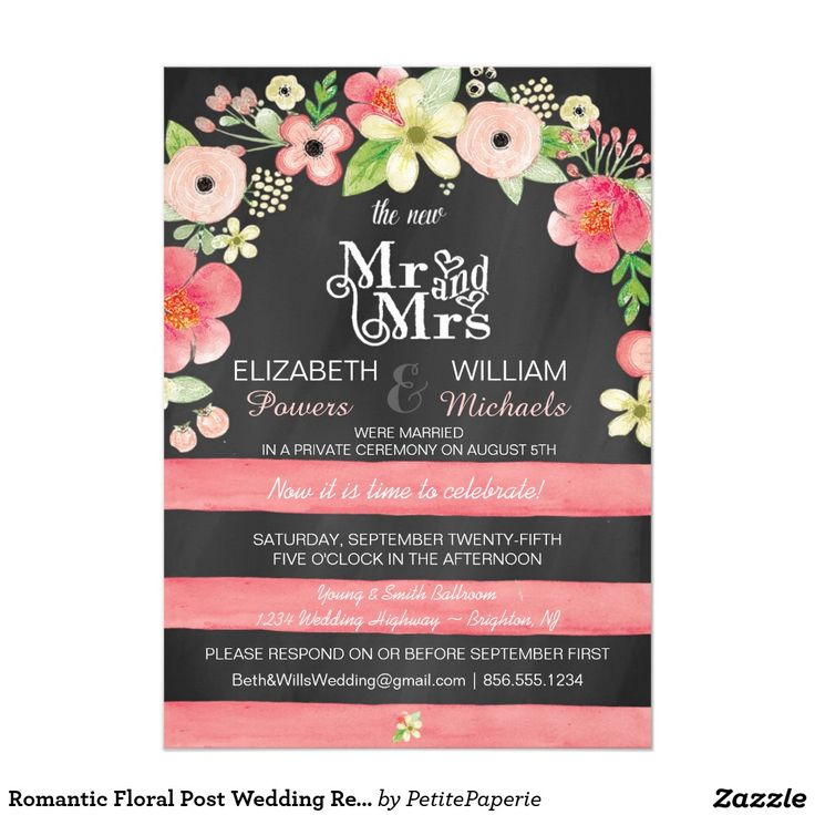 78 Best Chalkboard Post Wedding Party Invites Images On Pinterest