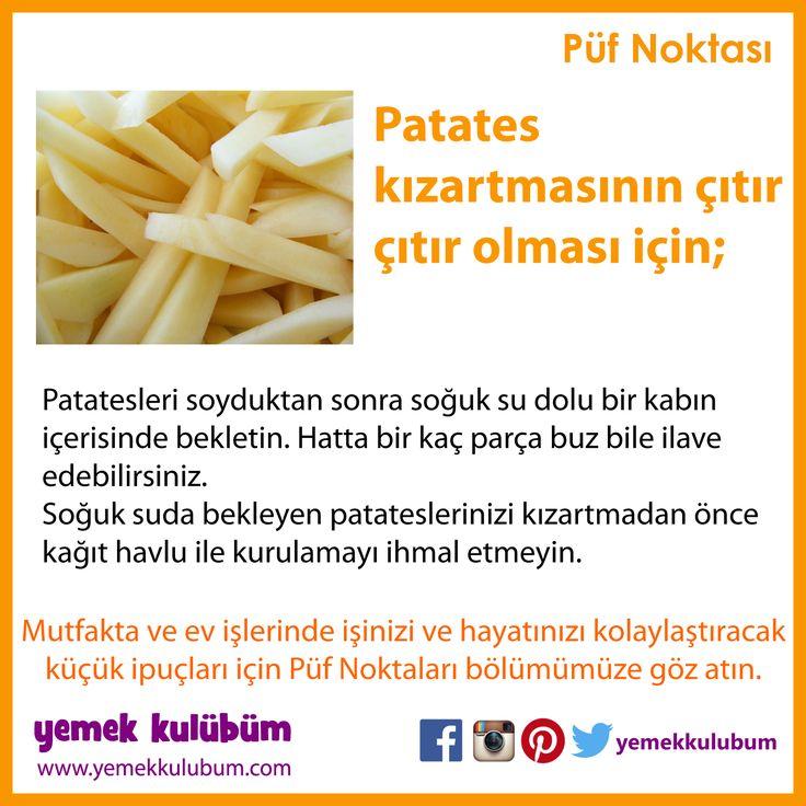 YEMEK YAPMANIN PÜF NOKTALARI : Çıtır çıtır patates kızartması yapmak için... http://yemekkulubum.com/puf-noktasi-liste/yemek-hazirlama-ile-ilgili-puf-noktalari #yemek #yemekhazırlama #yemekyapma #püfnoktası #püfnoktaları #pratikbilgiler #ipucu #ipuçları #patates #çıtır #çıtırçıtır #kızartma