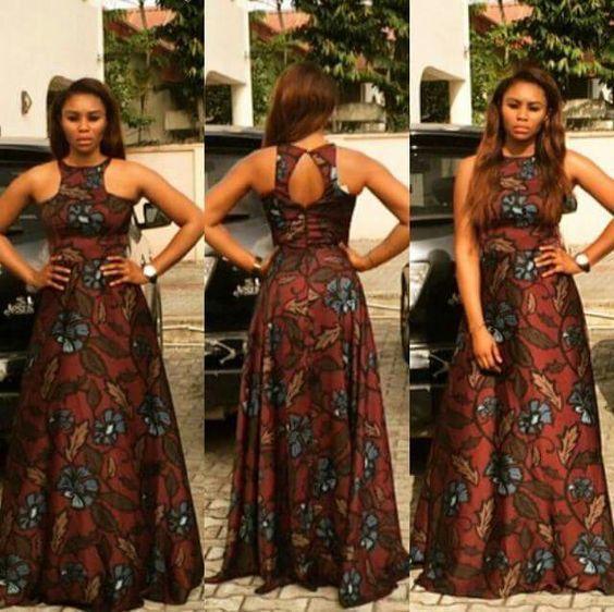 Robe longue imprimé africain robe Ankara robes par SleekLife