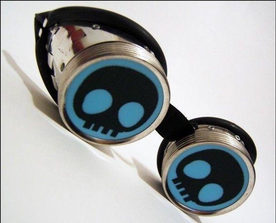 Steampunk skull goggles
