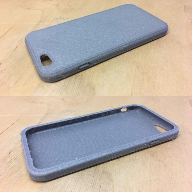Iphone 6 suojakuori tulostettu joustavalla filamentilla.