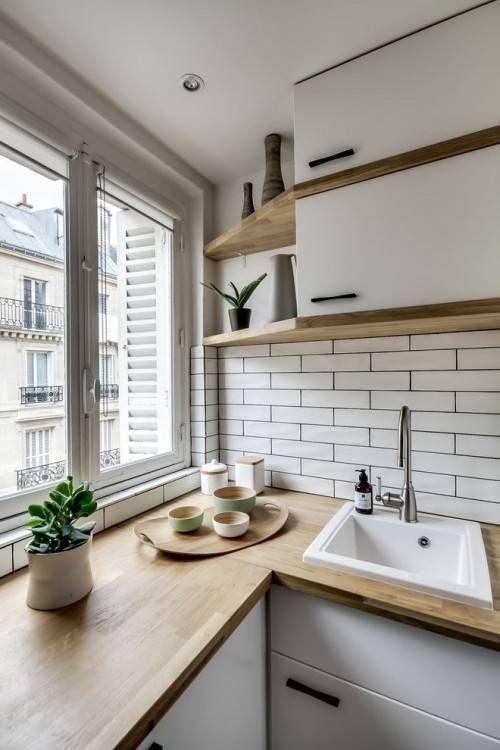 belle déco cuisine moderne petit espace | Cuisines in 2019 | Évier ...