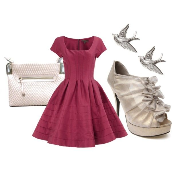 Go for a super girly look in a cap sleeve full skirted a-line dress and Sugar Sugar Petite in silver shimmer.