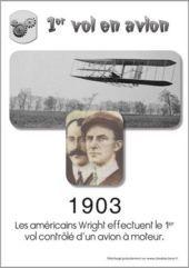 1er vol en avion par les frères Wright