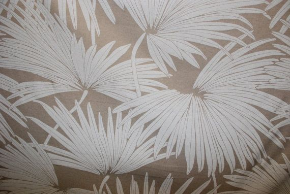 Linen Palm Tropical Upholstery Fabric  Upholstery by ShopMyFabrics
