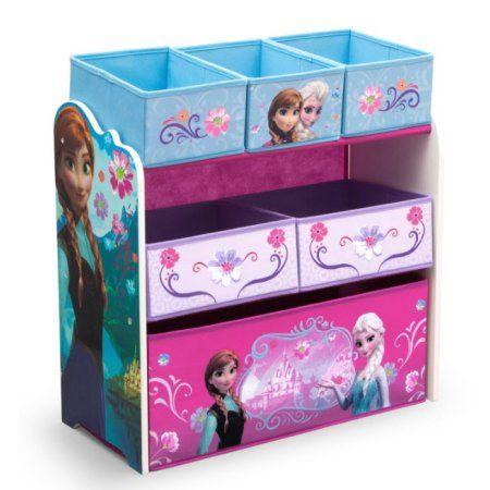 Delta Children Disney Frozen Multi-Bin Toy Organizer, Multicolor