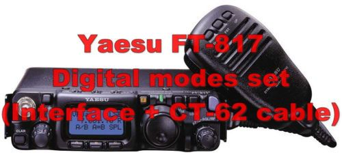 Compatible with Yaesu FT-817, FT-817ND, FT-857, FT-897 (transceivers not included) and all other radios with mini din 6 input/output data port and Yaesu CT-62 CAT port. Use this set if your transceiver does not support VOX operation or if you want to transmit without enabling VOX.