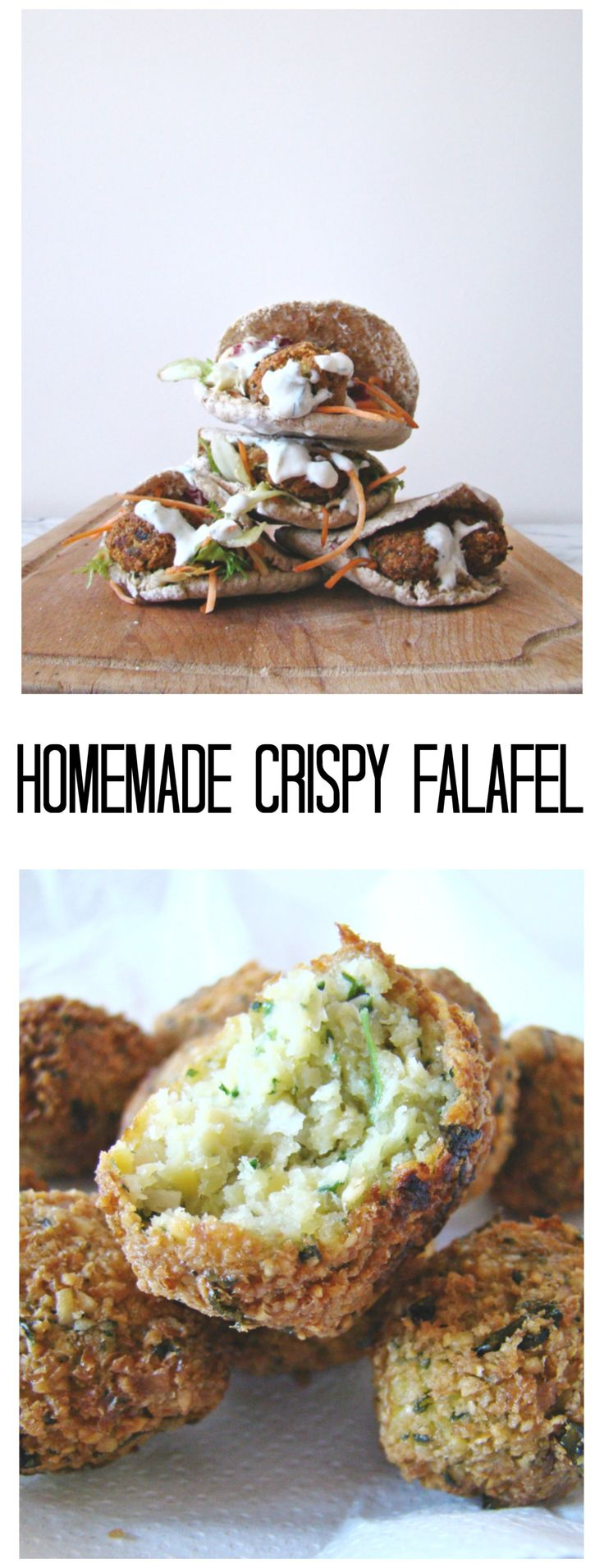 These Homemade Crispy Falafel are extremely tasty and super easy to make. You can make a big batch of batter and freeze for later.