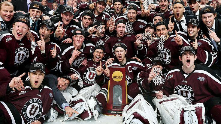 Union College (NY) beats Minnesota for first NCAA hockey title, 04/12/2014.
