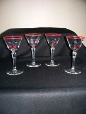 cOCKTAIL GLASSES VINTAGE LIBBEY PICKWICK MIDCENTURY SWANK LIQUOR GLASS BARWARE