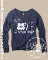 Our love is ocean deep COAST GUARD slouch top