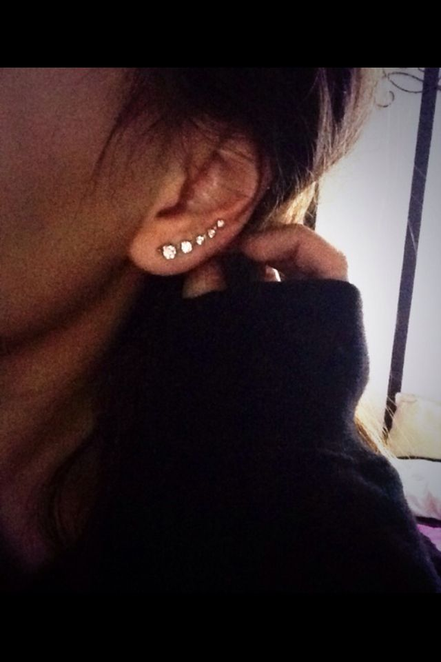 multiple lobe piercings