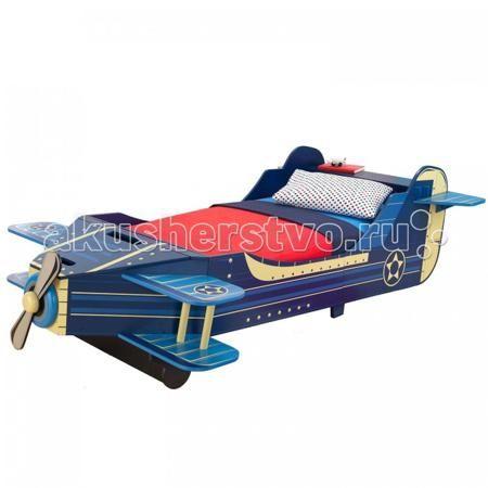 KidKraft Самолет  — 26784р. ------------------------------------  Детская кровать KidKraft Самолет  Детская кровать Kidkraft Самолет выполнена в оригинальном дизайне и дополнена элементами декора. Она устойчиво стоит на ножках и оборудована защитными бортами, которые предотвратят выпадение ребенка во время сна. В нашем магазине Вы можете купить кровать Kidkraft Принцесса и подарить своему ребенку шикарное спальное место.  Характеристики детской кровати Kidkraft Самолет: Детская кровать…