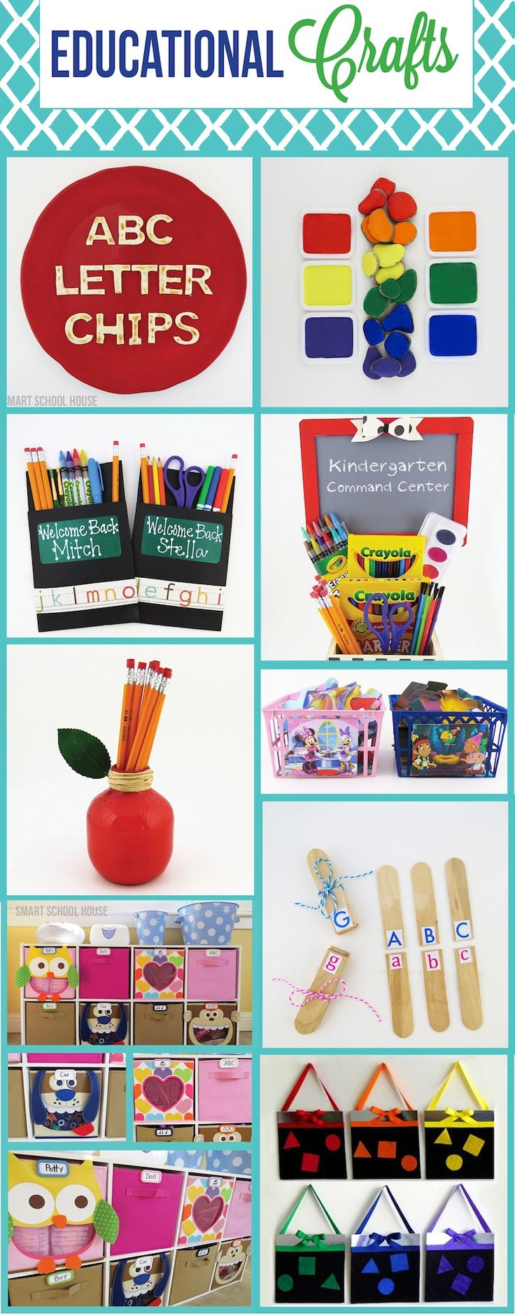 Educational Crafts - perfect for preschoolers and kindergarteners.
