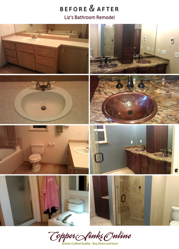 Before U0026 After: Lizu0027s Bathroom Remodel With SoLuna Copper Sinks From Http://