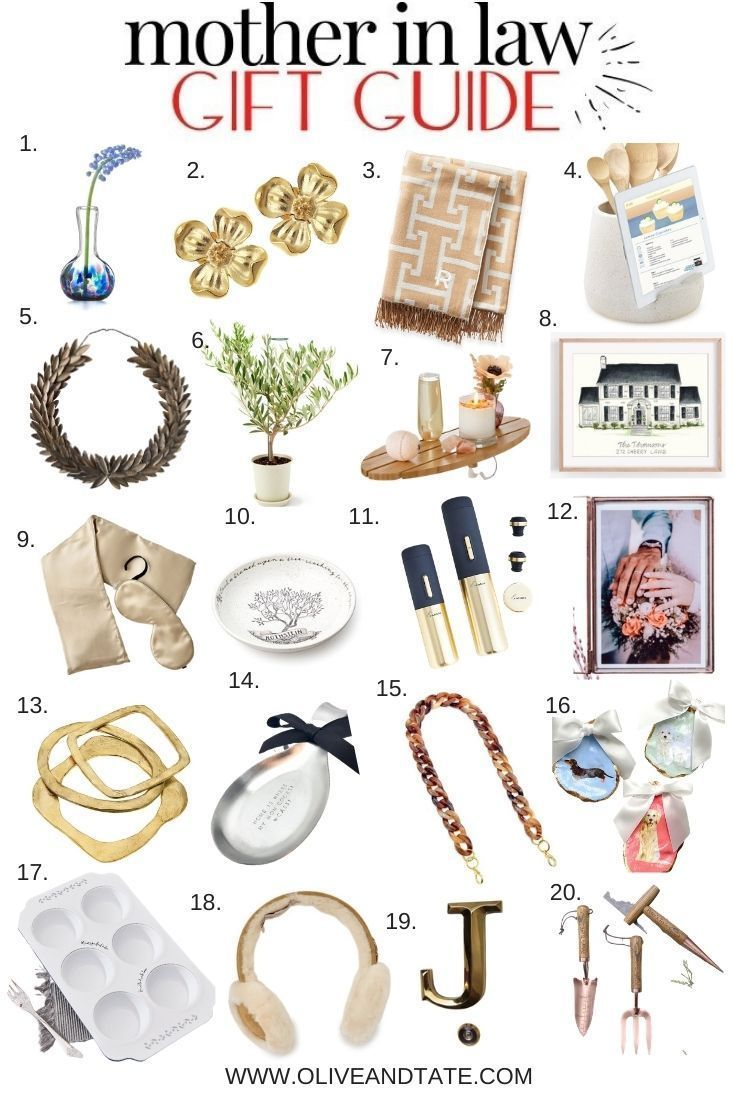 Mother In Law Gift Guide Olive And Tate Mother Christmas Gifts Mother In Law Gifts In Law Christmas Gifts