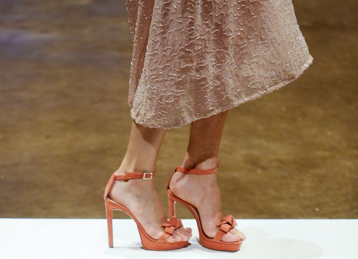 BUENOS AIRES, ARGENTINA - AUGUST 15:  Detail of high-heels during the Sarkany show at the Buenos Aires Fashion Week Spring/Summer 2015 in Predio Ferial La Rural on August 15, 2014 in Buenos Aires, Argentina. (Photo by Gabriel Rossi/LatinContent/Getty Images) via @AOL_Lifestyle Read more: https://www.aol.com/article/lifestyle/2016/12/05/1-trick-you-need-to-stay-comfortable-in-high-heels/21621005/?a_dgi=aolshare_pinterest#fullscreen ~ETS #bows
