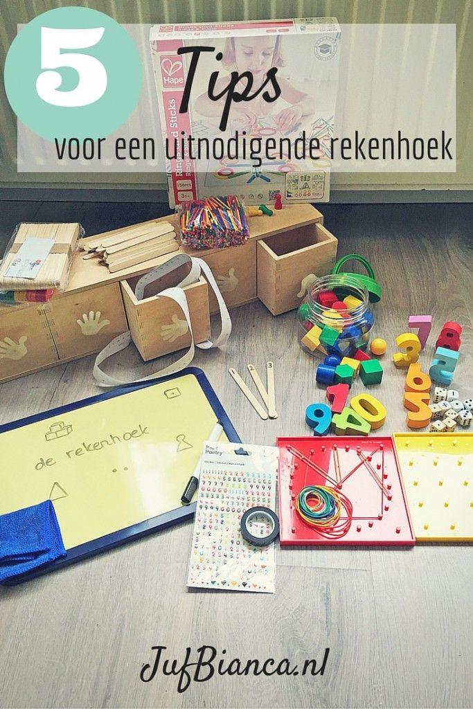 5 Tips voor een uitnodigende rekenhoek - JufBianca.nl