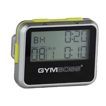 Gymboss Interval Timer and Stopwatch - SILVER / YELLOW METALLIC GLOSS #affiliate