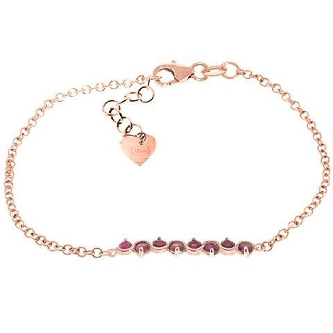 9ct Rose Gold 1.55ct Ruby Bracelet