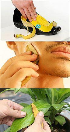 13 неожиданных способов использования банановой кожуры - Советы на каждый день