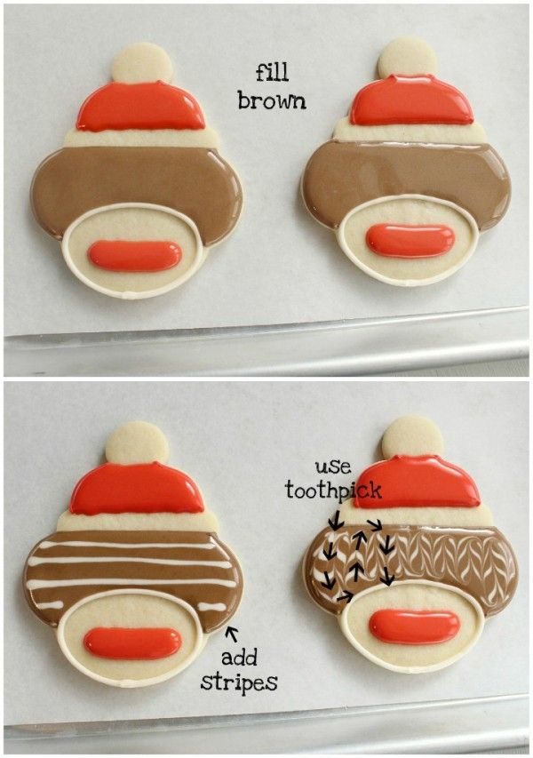 Sock Monkey How to - Step 2 (Shows where to get sock monkey cookie cutter!) ***LL