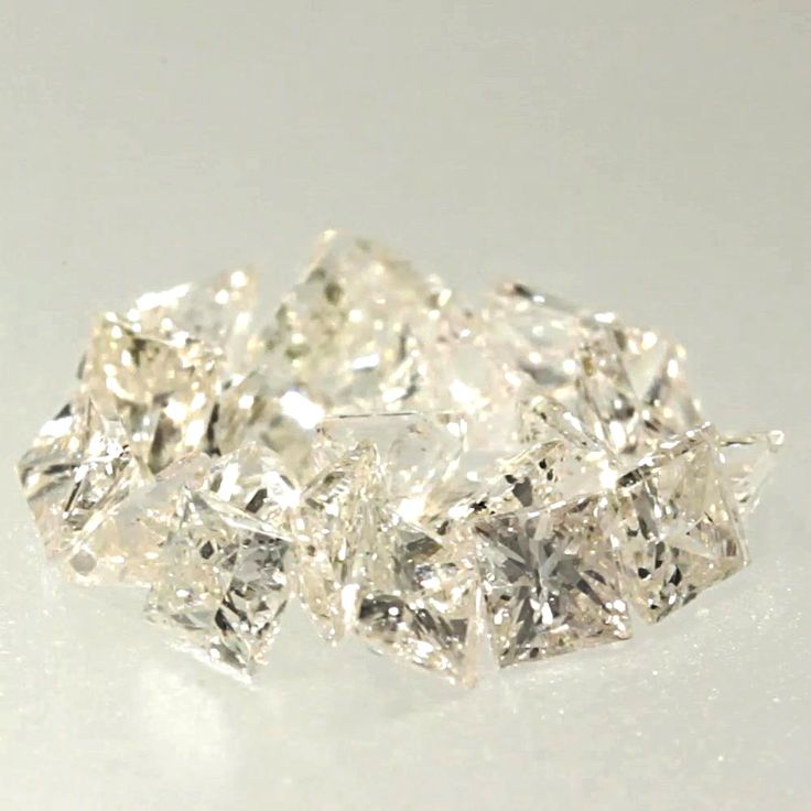 0.029 ctw Champagne (C1) I1 Clarity 1.75x1.60x1.25 mm Princess Cut Loose Diamond