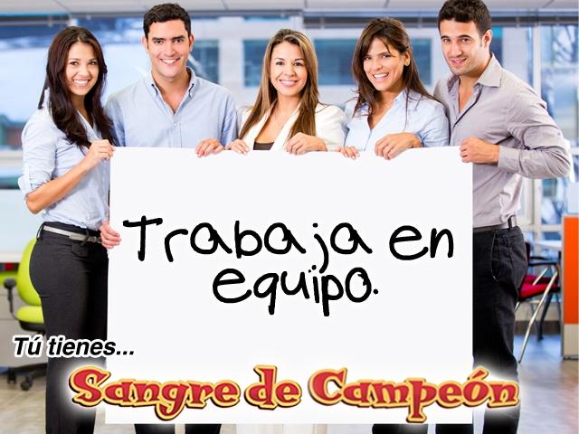 """""""Trabaja en equipo."""" Carlos Cuauhtémoc Sánchez"""