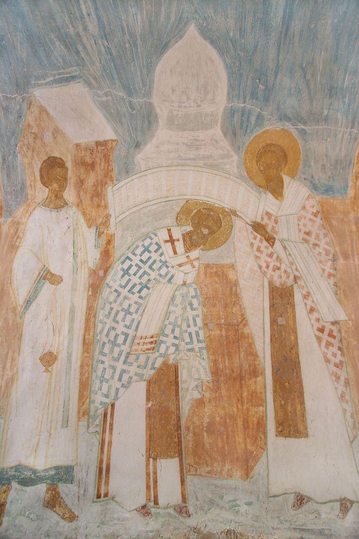 Поставление святителя Николая во епископа Разрез по восточному поперечному нефу. Вид на восток