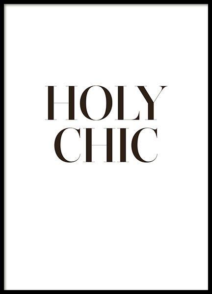 Holy chic Poster und Plakate mit Text für eine moderne Einrichtung