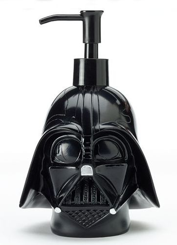 Transform his bathroom into an intergalactic wonderland with the help of this Star Wars Darth Vader soap pump. #ForceOfFamily