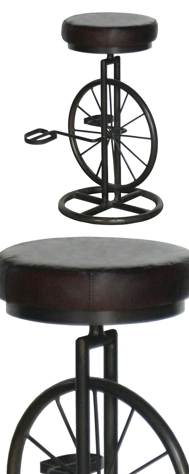 When it comes to bar furniture itu0027s time to break the  cycle.  Our Ansel Bar Stool is crafted by hand and blends the look of a bicycle wheel with a ...  sc 1 st  Pinterest & 91 best foot stools images on Pinterest | Foot stools Step stools ... islam-shia.org