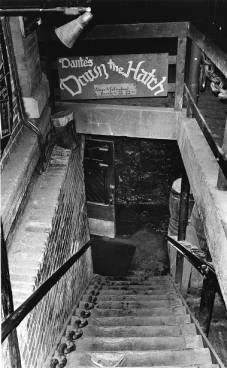 Atlanta, 1981…..the stairway to enter Dante's Down the Hatch at Underground Atlanta.