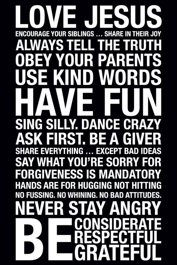 I'm so getting this for my kids... and maybe a little for me, too. :): Inspiration, Subway Art, Quotes, Life Rules, Boys Rooms, Kids, Houses Rules, Family Rules, Families Rules