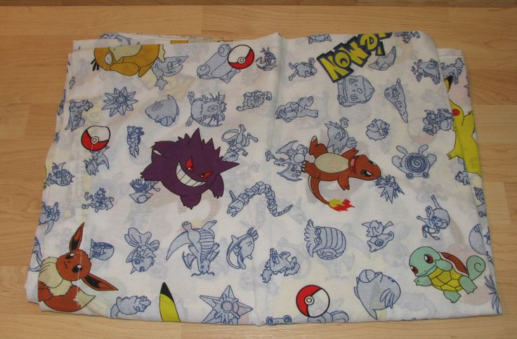Pokemon bed sheet by NekoAngelAnime on Etsy