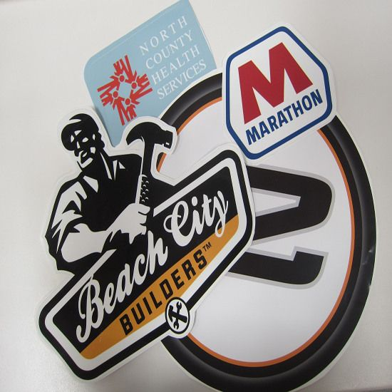 Die cut stickers from zigpac print com are great for store windows and vehicles
