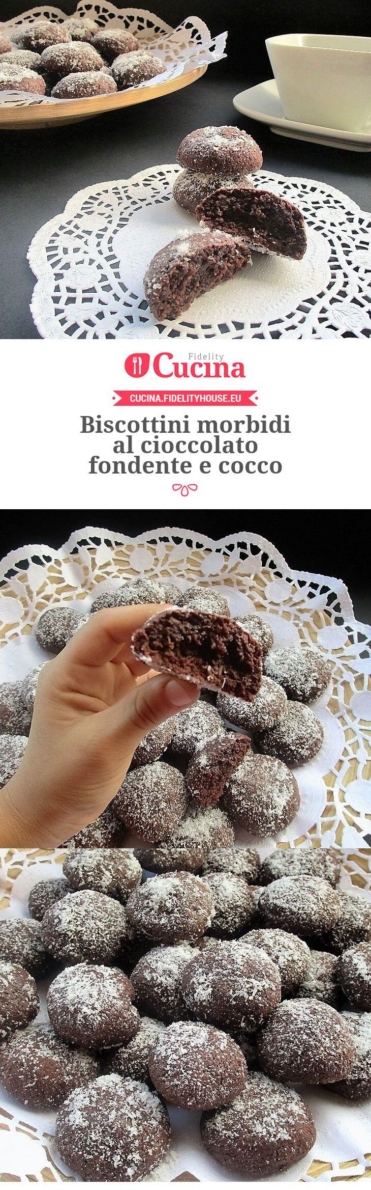 Biscottini morbidi al cioccolato fondente e cocco della nostra utente Sabrina. Unisciti alla nostra Community ed invia le tue ricette!